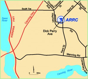 Map showing the location of the ARRC